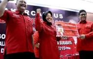 Risma-Whisnu Resmi Daftar Pilkada Surabaya