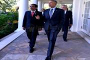 Obama Ajak Jokowi Masuk Lorong Rose Garden