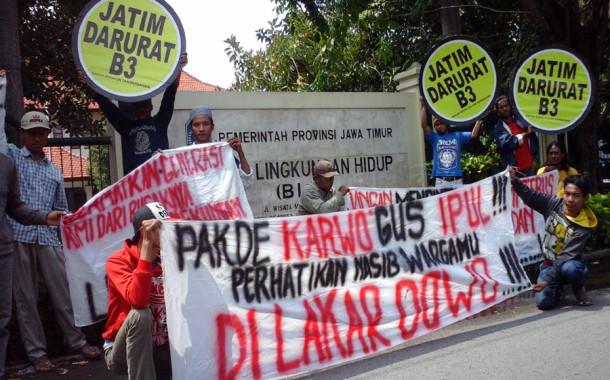 Warga Lakardowo Duduki BLH Jawa Timur