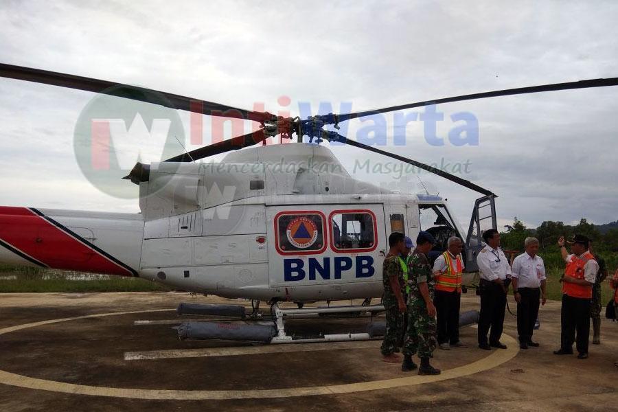 BNPB Kerahkan Heli Untuk Bencana Pacitan, Jumat (01/12/2017).
