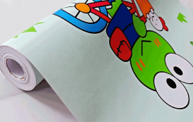 Wallpaper Stiker Ceria Ramah Anak