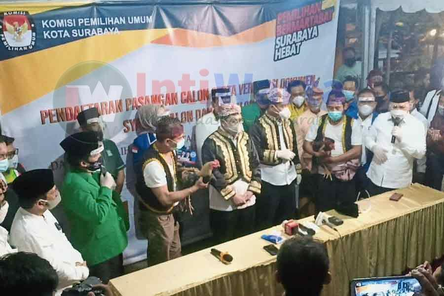Pasangan MAJU Resmi Daftar Ke KPU Surabaya