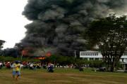 Kantor Gubernur Kalteng Ludes Terbakar