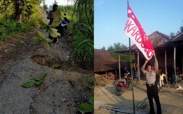 Bendera Merah Putih Dicoret Di Lakardowo