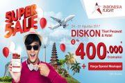 5uper 5ale Anniversary Indonesia Flight