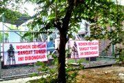 Warga Jumputrejo Sidoarjo Protes Tower BTS Selular